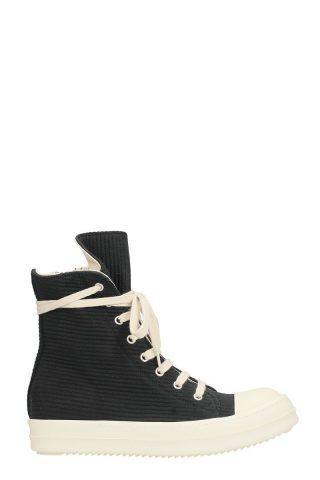 DRKSHDW DRKSHDW Black Wool Ramones Sneakers (zwart)
