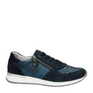 Remonte nubuck sneakers (blauw)