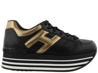 Hogan Hogan Maxi H222 Sneakers (zwart/goud)