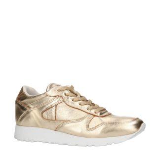 Sacha metallic leren sneakers (goud)