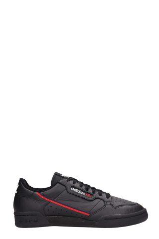 Adidas Adidas Continental 80 Black Leather Sneakers (zwart)