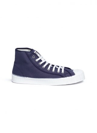 Spalwart 'Special Mid' high top canvas sneakers (blauw)