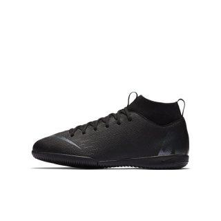 Nike Jr. MercurialX Superfly VI Academy Zaalvoetbalschoen voor kleuters/kids - Zwart Zwart