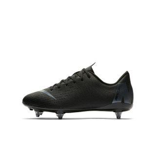 Nike Jr. Mercurial Vapor XII Academy SG-PRO Voetbalschoen voor kleuters/kids (zachte ondergrond) - Zwart Zwart
