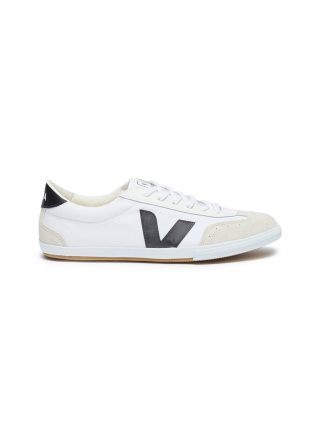 Veja 'Volley' suede panel organic canvas sneakers (wit)