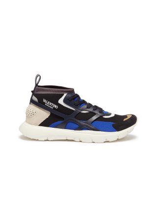 Valentino 'Sound High' patchwork sneakers (multicolor)