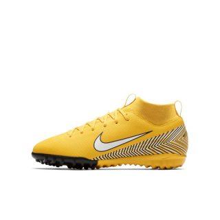 Nike Jr. Mercurial Superfly VI Academy Neymar Jr Voetbalschoen voor kleuters/kids (turf) - Geel geel
