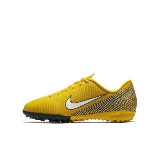 Nike Jr. Mercurial Vapor XII Academy Neymar Jr Voetbalschoen voor kleuters/kids (turf) - Geel geel