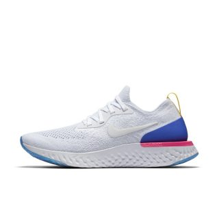 Nike Epic React Flyknit Hardloopschoen voor dames - Wit Wit
