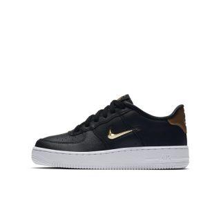 Nike Air Force 1 LV8 Leather Kinderschoen - Zwart Zwart