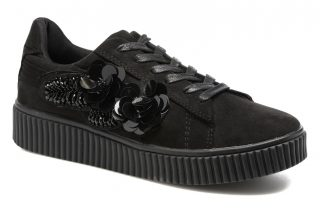 Sneakers Black Flowers by Molly Bracken