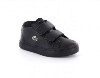 Lacoste Straightset Chukka 316 1 Spi Zwarte Hoge Sneakers (Zwart)