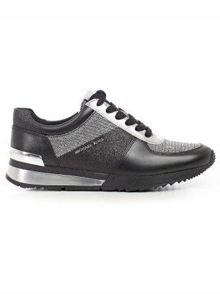 MICHAEL Michael Kors Michael Michael Kors Allie Wrapped Sneakers (zwart/zilver)