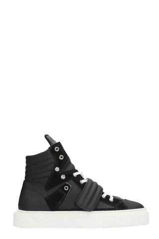 Gienchi Gienchi Hypnos Black Leather And Suede Sneakers (zwart)
