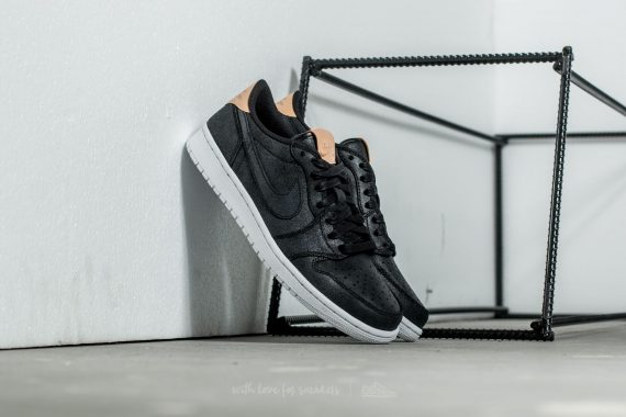 Air Jordan 1 Retro Low OG Premium Black/ Vachetta Tan-White