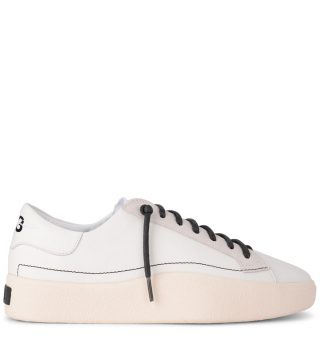 Y-3 Y-3 Tangutsu Lace White Leather And Suede Sneaker (wit)