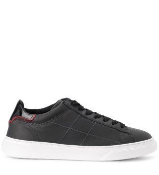 Hogan Hogan H365 Black Tar Leather Sneakers (zwart)