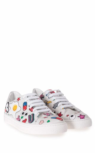 Anya Hindmarch Anya Hindmarch All Over Stickers Leather Low-top Sneakers (multicolor)