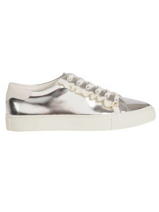 Tory Burch Tory Burch Mirrored Low-top Sneakers (zilver/wit)