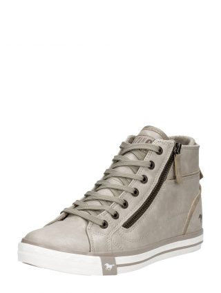 Mustang dames donkergrijze sneakers – Taupe