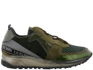 Leather Crown Leather Crown Aero Sneakers (rood/groen)