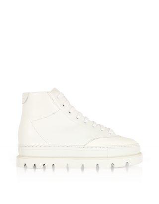 MM6 Maison Martin Margiela MM6 Maison Martin Margiela Designer Shoes, White Leather Platform Sneakers (Overige kleuren)