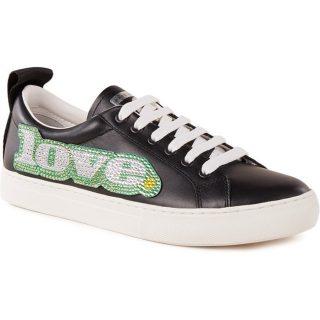 Marc Jacobs Love Empire sneaker van kalfsleer met strass