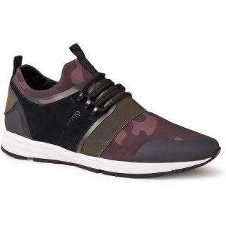 HUGO BOSS Hybrid Run sneakers met suède en camouflage dessin