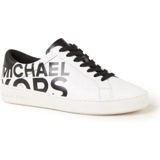 Michael Kors Irving sneaker van leer met logoprint