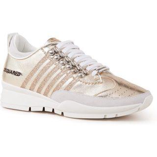 Dsquared2 251 sneaker van kalfsleer met metallic finish