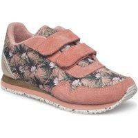 Woden Artikelnummer Nora flower meisjes klittenband sneaker roze