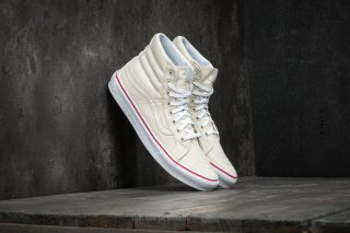 Vans Sk8-Hi Slim (Leather Canvas) Bone/ True White
