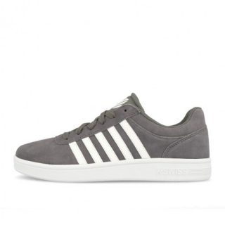 K-Swiss Court Cheswick Suede Charcoal White