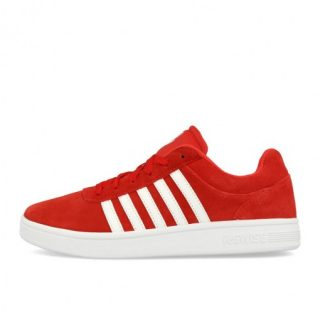 K-Swiss Court Cheswick Suede Fiery Red White