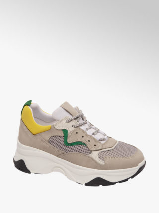 5th avenue Grijze leren dad sneaker