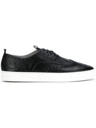 Grenson brogue sneakers (zwart)