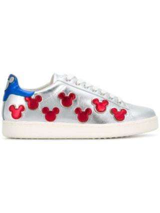 Moa Master Of Arts metallic Mickey Mouse sneakers (zilver)