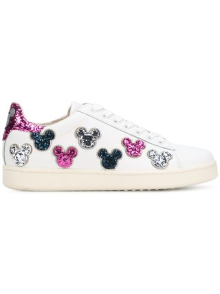 Moa Master Of Arts Mickey Mouse glitter sneakers (wit)