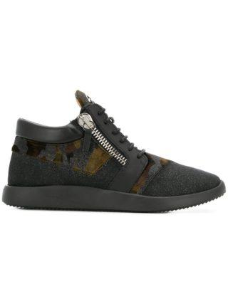 Giuseppe Zanotti Design Runner camouflage sneakers (zwart)