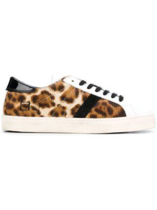 D.A.T.E. leopard lace-up sneakers (bruin)