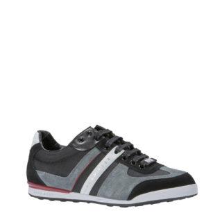 Boss sneakers met leer (heren) (zwart)