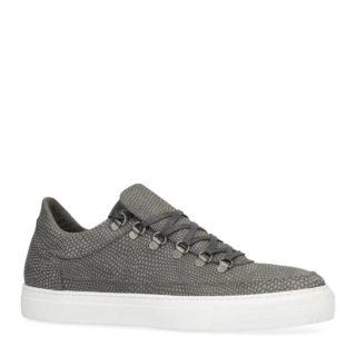 Sacha leren sneakers met slangen print grijs (heren) (grijs)