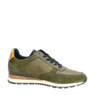 PME Legend leren sneakers kaki (heren) (groen)