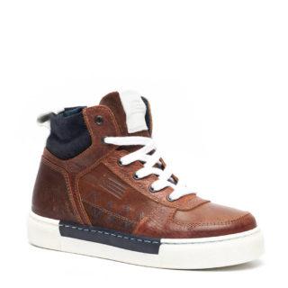 Groot leren sneakers bruin jongens (bruin)