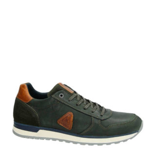 Gaastra leren sneakers kaki (heren) (groen)