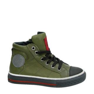 Kipling leren sneakers Drive 1 jongens (groen)