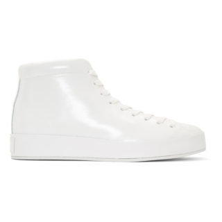 Rag and Bone White Patent RB1 High-Top Sneakers