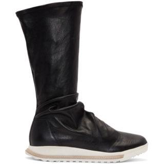 Rick Owens Black Dirt Grafton Sock High-Top Sneakers
