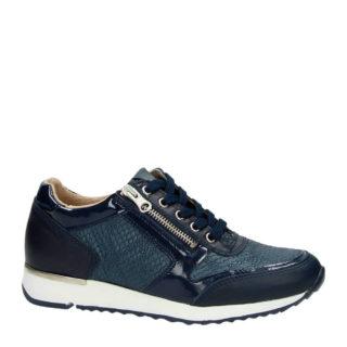 Nelson leren sneakers (dames) (blauw)
