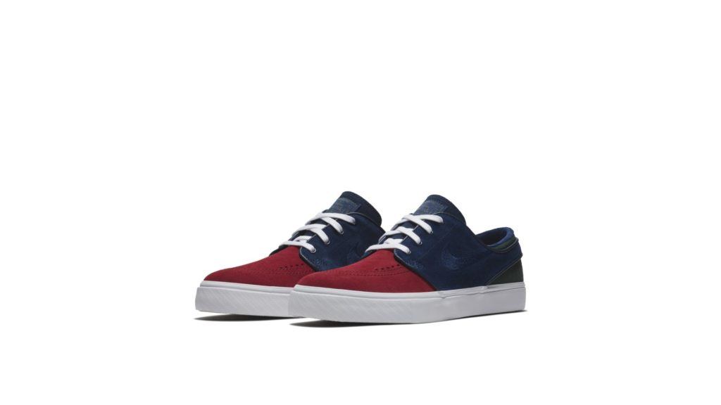 Nike Sb Zoom Stefan Janoski Red Crush / Blue Void - Midnight Green (333824-641)